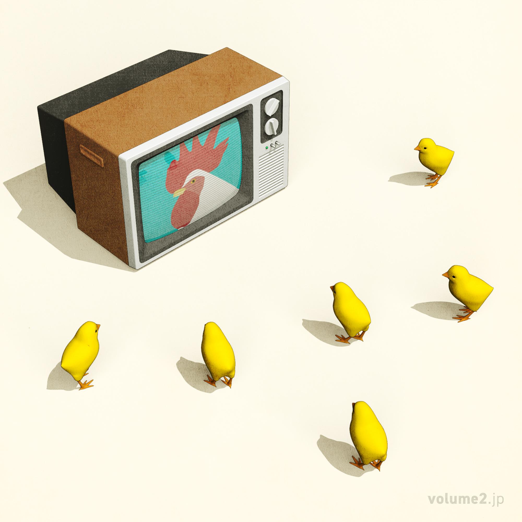 テレビにくぎづけ