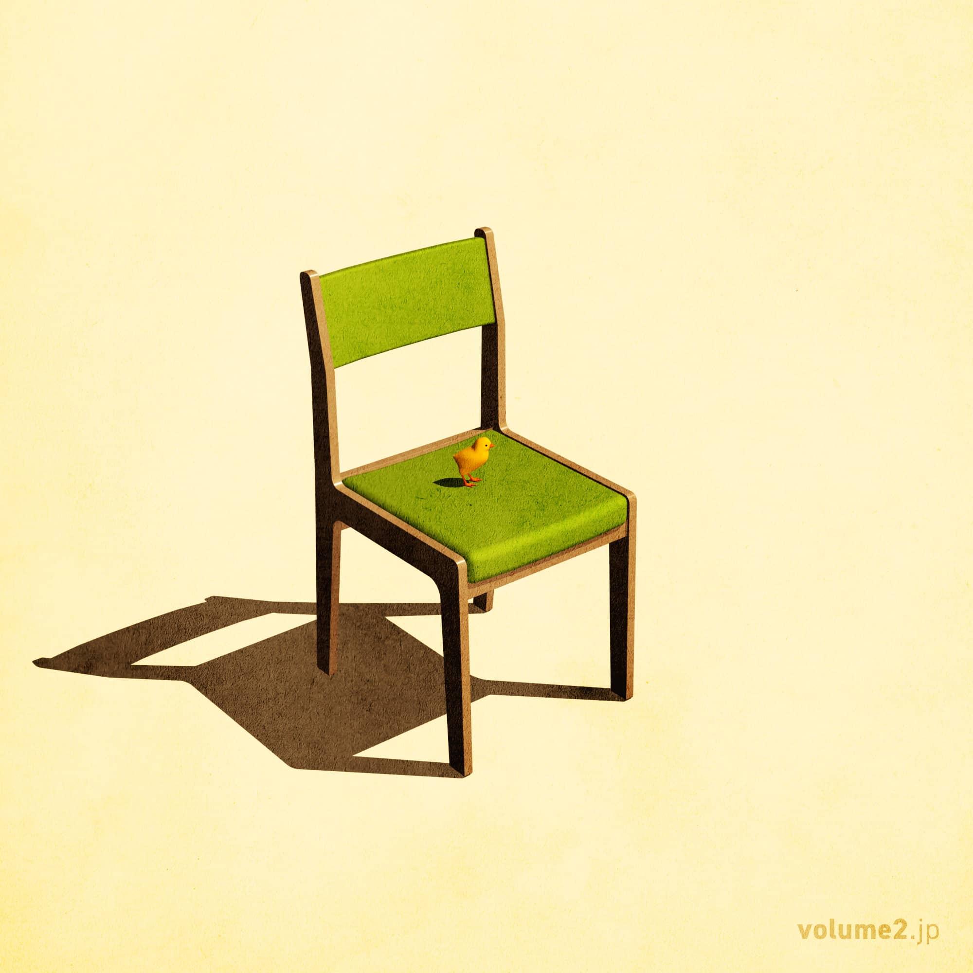 椅子とヒヨコ